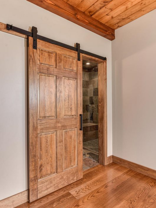 Custom Sliding Barn Door at Warbler Crossing