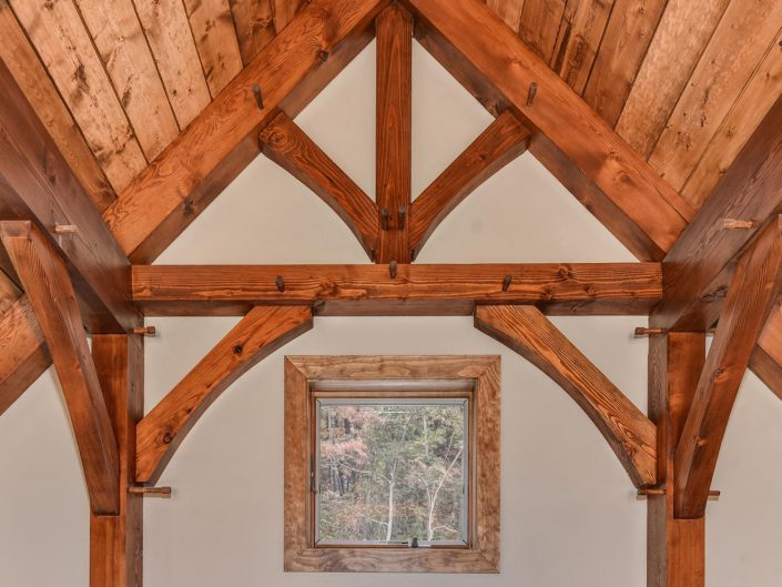 Custom Wood Beams at Warbler Crossing
