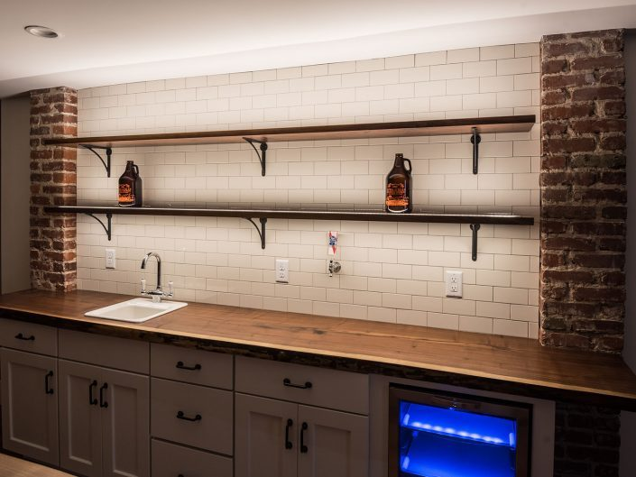 Basement Kitchen Backlighting at Windsor